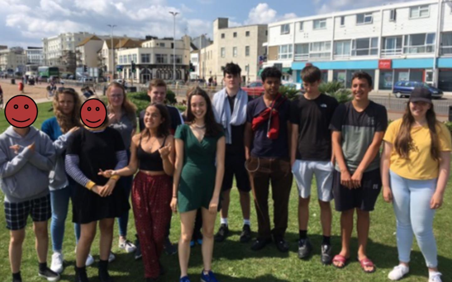 Members of Team One, on NCS in Hastings, gather for a group photo