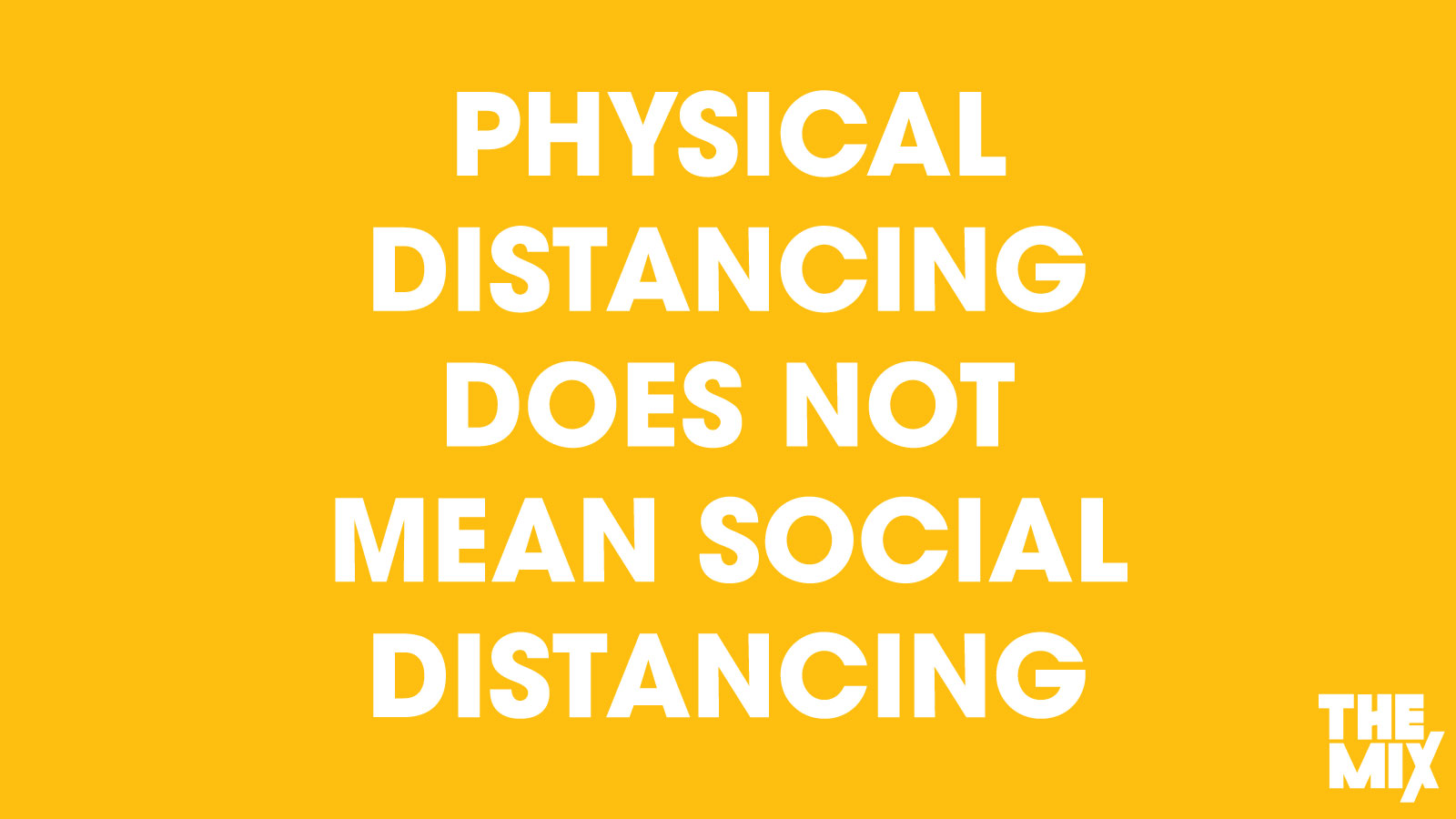 Social Distancing The Mix graphic