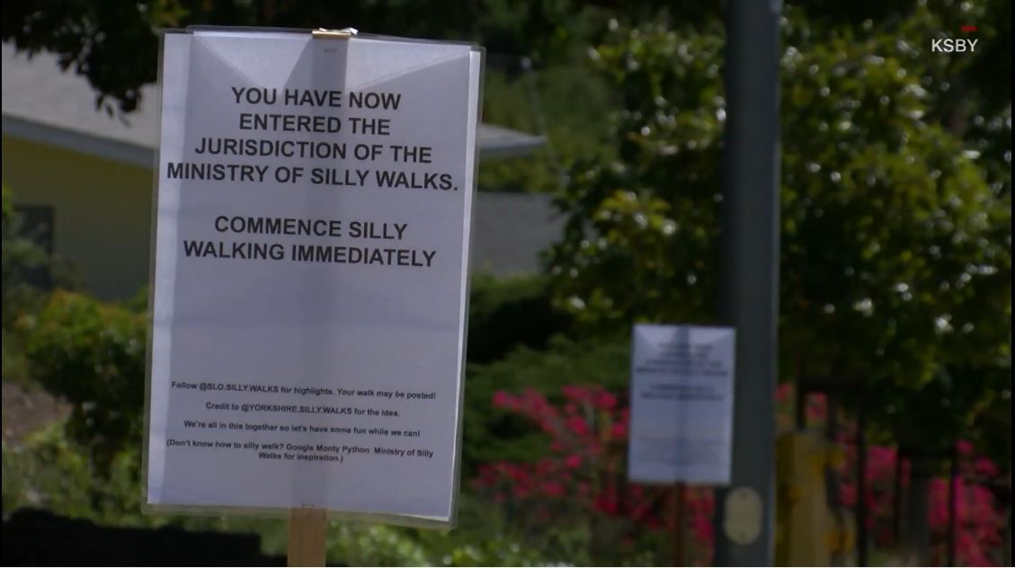 silly walk sign
