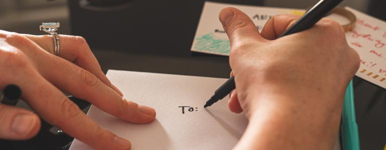 how to write a letter blog header