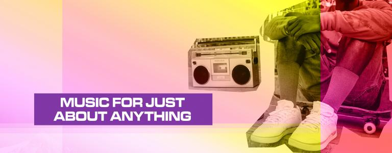 MUSIC FOR JUST ABOUT ANYTHING HEADER