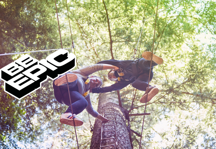 Be Epic climbing a tree together outside